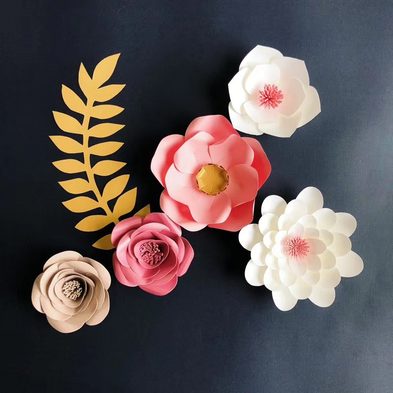 colorful tissue paper flowers for decoration
