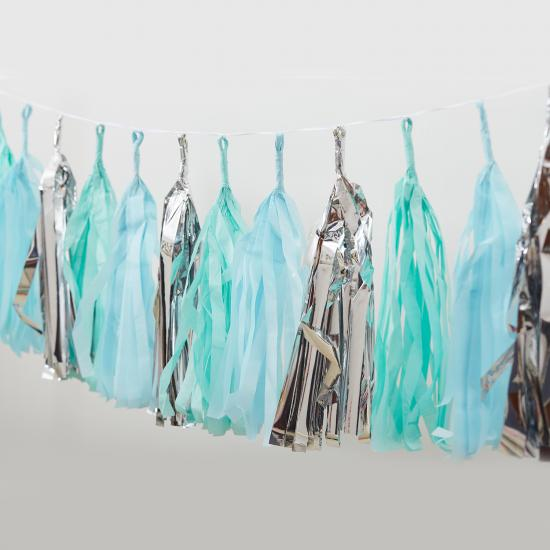 silver party tassel garland wholesale
