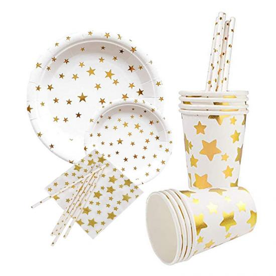 Gold Paper Tableware Sets