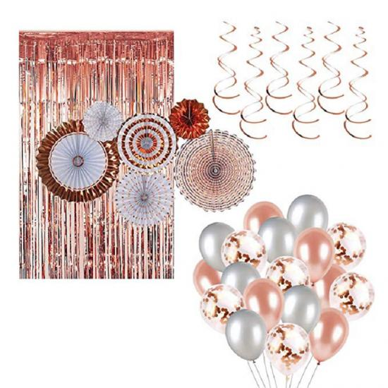 rose gold wedding decoration set