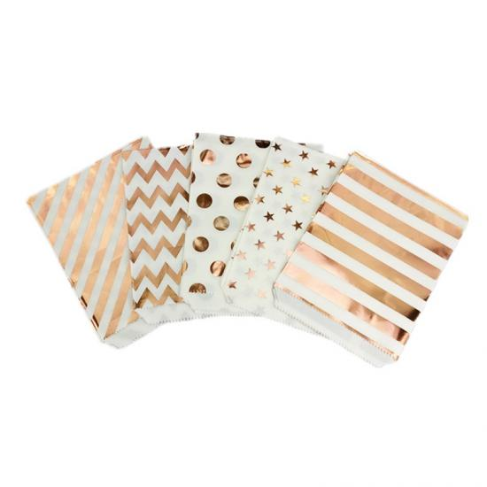 rose gold paper bag wholesale