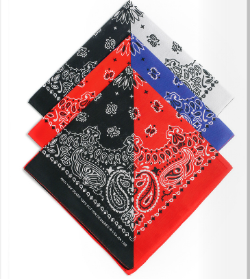 Square Bandannas Cheap 100% polyester cotton